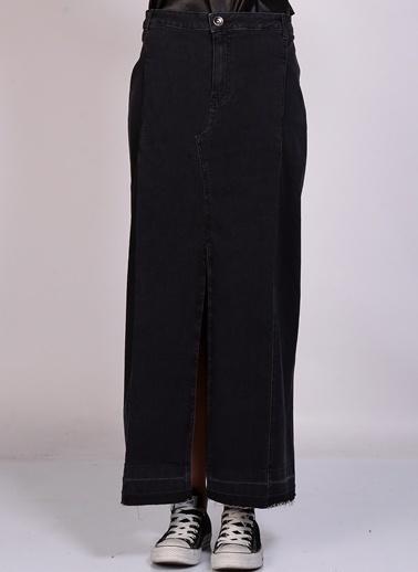 Black Pepper Yırtmaçlı Uzun Etek Siyah